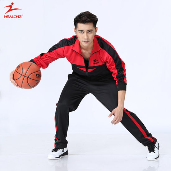 Healong Personalized Sportswear Sublimation Printing Tracksuit for Sale