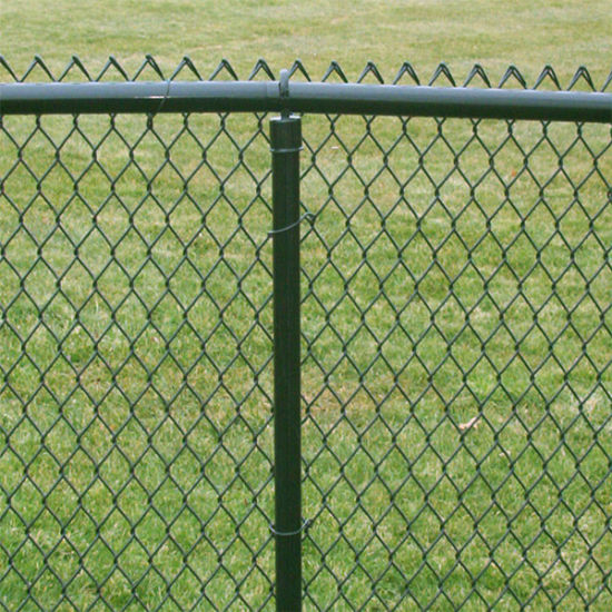 Made in China Expressed Used Chain Link Fence for Sale, Fence Made of PVC Coated Chain Link Fence System pictures & photos