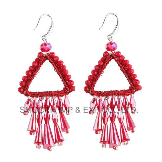 Wholesale Fashion Alloy Rhinestone String Beads Accessories Jewelry Tassel Earring