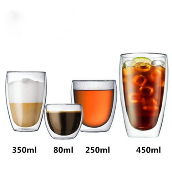Double Wall Heat and Cold Resistance Glass Bottle Coffee Cup pictures & photos
