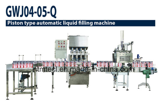 Full Automatic Volume Type Liquid Filling Line for Paint, Ink, Lubrication Oil