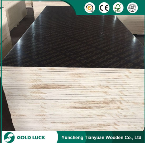 Hot Sales Melamine Faced Marine Plywood for Formwork 8 X 4 pictures & photos