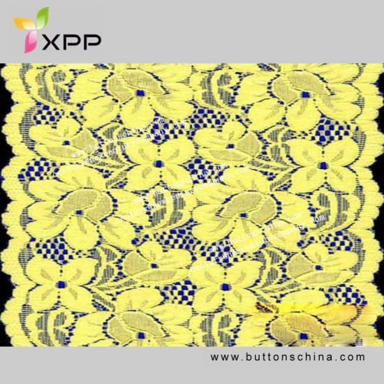 Dreamy Yellow Elastic Lace for Ladies pictures & photos