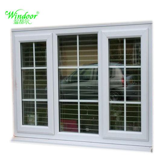 China Best Price Grill Design PVC Sliding Window