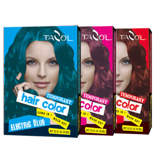7g*2 House Use Temporary Hair Color with Bright Blue Hair Color pictures & photos