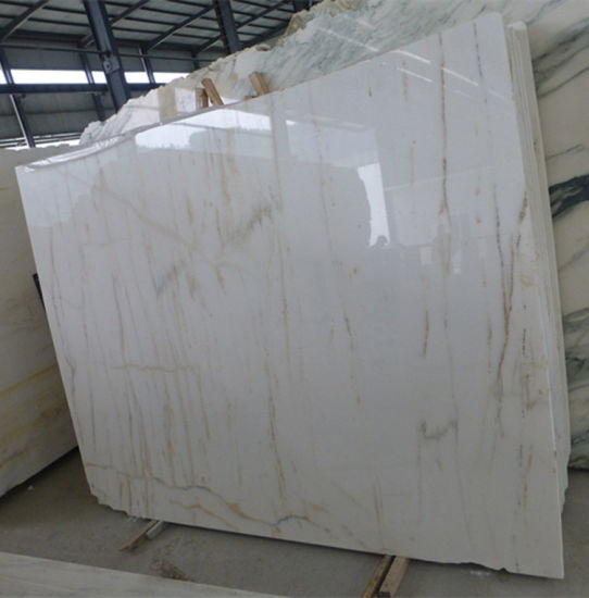 China White Marble With Gold Vein
