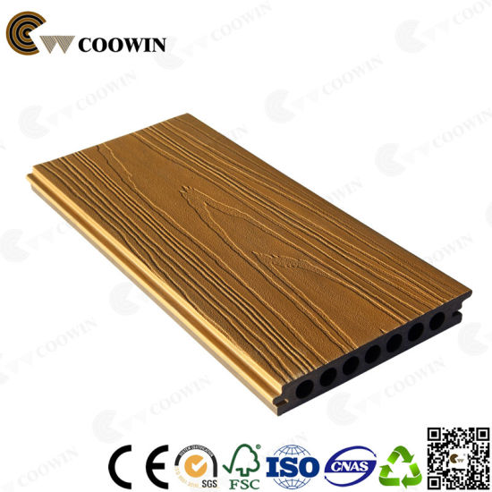 Patio WPC Wood Plastic Composite Decking Floor Covering