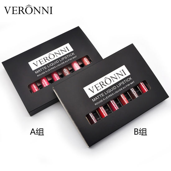 Veronni High Quality Liquid Lip Stick 6PCS Set Matte Liquid Lipstick pictures & photos