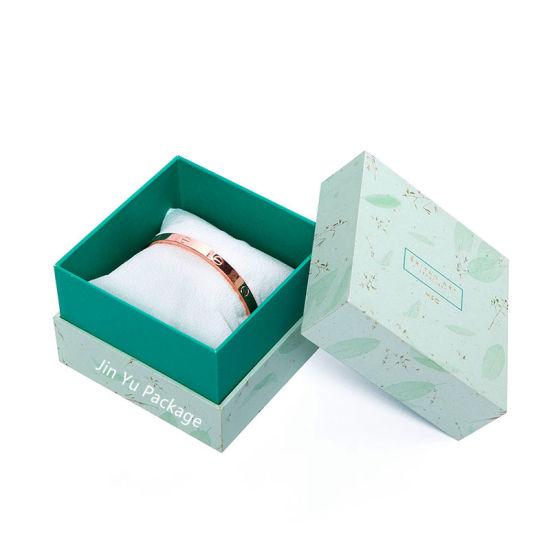 China Luxury Cute Paper Gift Jewelry Box Warrped Green Paper China