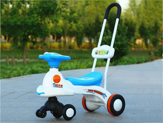 New Arrival Good quality Plastic Toy 3 Wheel Ride on Baby Walking Car