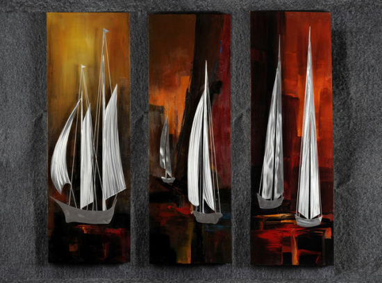 Sea Voyage Aluminum Relievo 3D Oil Painting Handicraft Wall Art pictures & photos