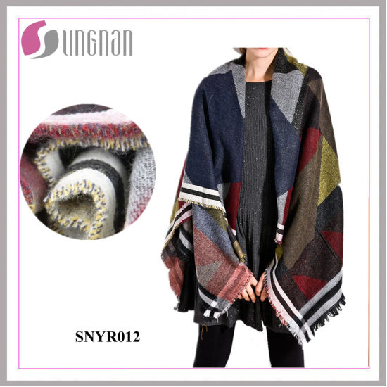 Fashion Colorful Geometry Bohemia Imitate Cashmere Scarf Shawl