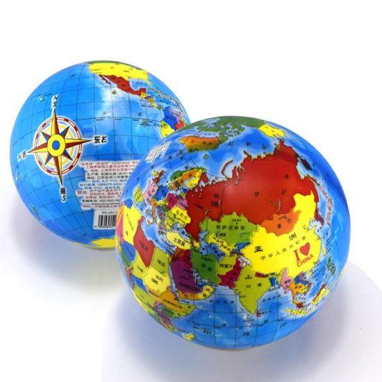 High Quality World Map Inflatable Globe Map Beach Ball
