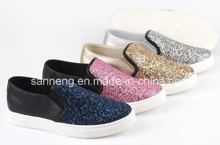 Summer Bling Classic Gliter / PU Injection Women Shoes (SNC-49046)