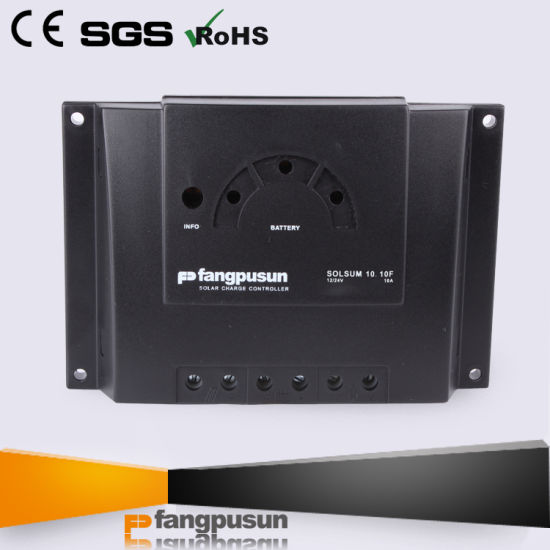 Ce RoHS off Grid Photovoltaic Street Light System PWM Control LED Display 6A 8A 10A Solar Charge Controller 12V/24V pictures & photos