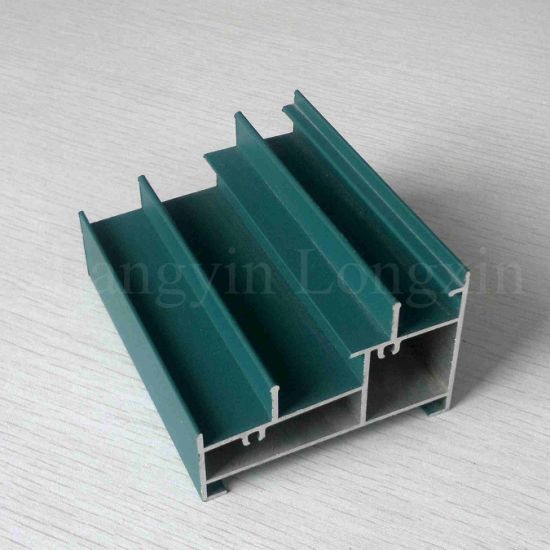 Green Powder Coated Aluminium Frame for Sliding Window pictures & photos