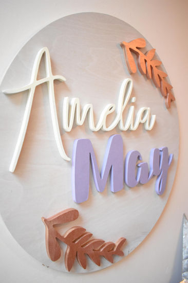 Wooden Letters Nursery Wall
