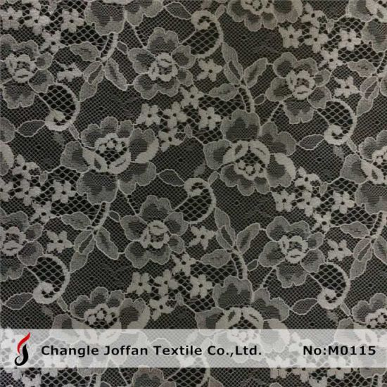 Fashion Flower Lace Fabric for Garment (M0115)