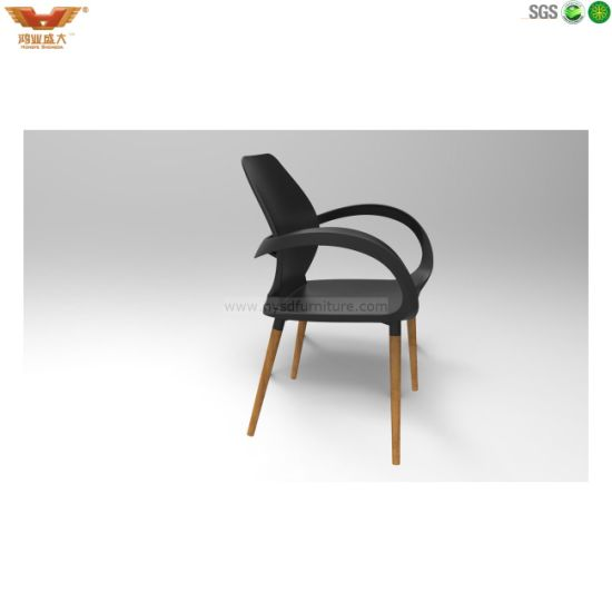 Black Back with Wooden Feet Plastic Chair Rl3000W/Op-St pictures & photos