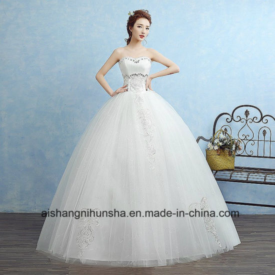 Sweetheart Princess Fashion Inexpensive Wedding Dress pictures & photos