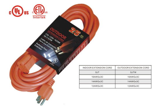 Us Wire and Cable Extension Cord with UL Approval (RZP-101)
