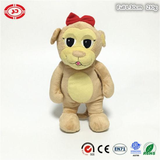 Beanie Babies Plush Beige Soft Cute Stuffed Beads Bear Toy