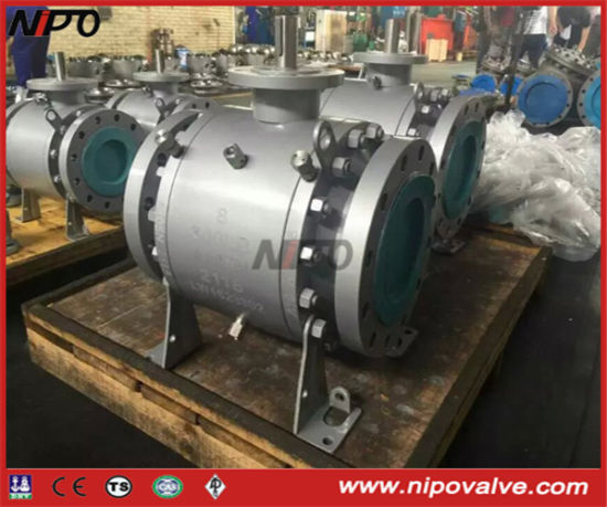 3-PCS Forged Steel Flanged Trunnion Ball Valve