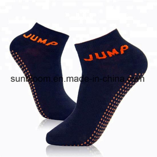 Nonslip Yoga Socks Cotton Sports Socks Anti-Slip Sock for Trampoline