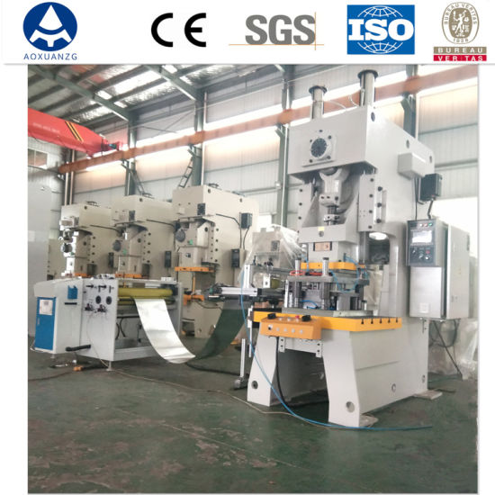 Gold Supplier Jh-63 Hydraulic Punching Machine with Feeder for Aluminum Foil Container Producing
