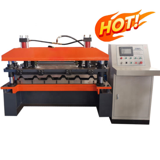 Metal Roofing Wall Tile Press Forming Machine Color Steel Sheet Trapezoid Roof Roll Forming Machine Construction Machinery Ibr Tile Making Machinery