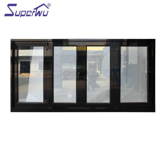 Factory Supply Best Price Exterior Balcony Aluminum Glass Folding Window