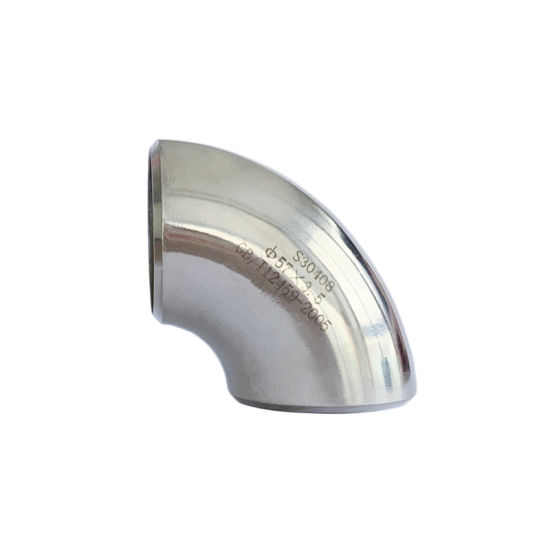 Exhaust Pipe Stainless Steel 90 Deg 1.0d Seamless Elbow Sanitary Fitting