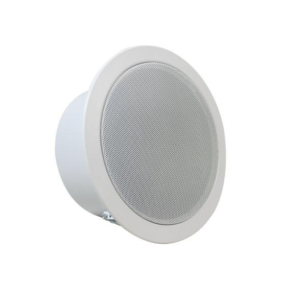 6 Inch Ceiling Speaker Metal Camac Portable PA Ceiling Loudspeaker with 6W Transformer En 54 Part 24 Compliance