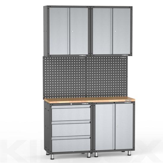 Kinbox 7 Pieces Metal Garage Storage