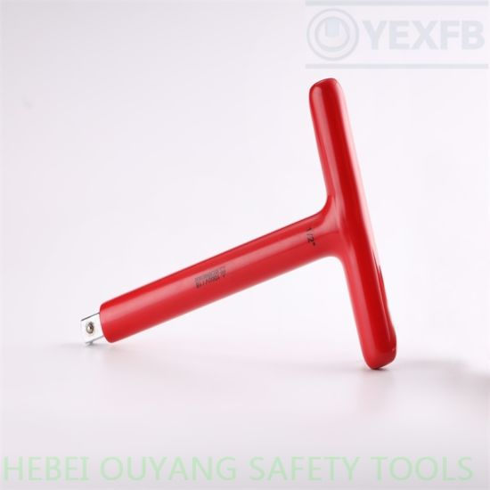 """1000 V Insulated/Insulation Wrench/Spanner, Dipped T Type, 1/2"""" Drive, IEC/En60900"""
