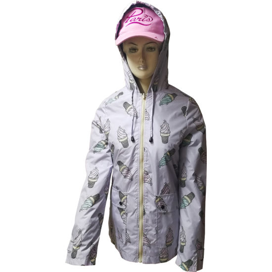 Polyester Jacket for Women with Linning, Water Resistant