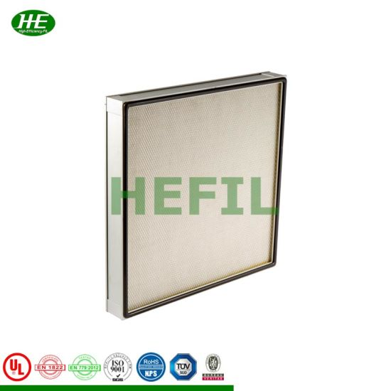 Media Made From Ultrafine Fiberglass Fiber Low Resistance Mini-Pleat HEPA Filter