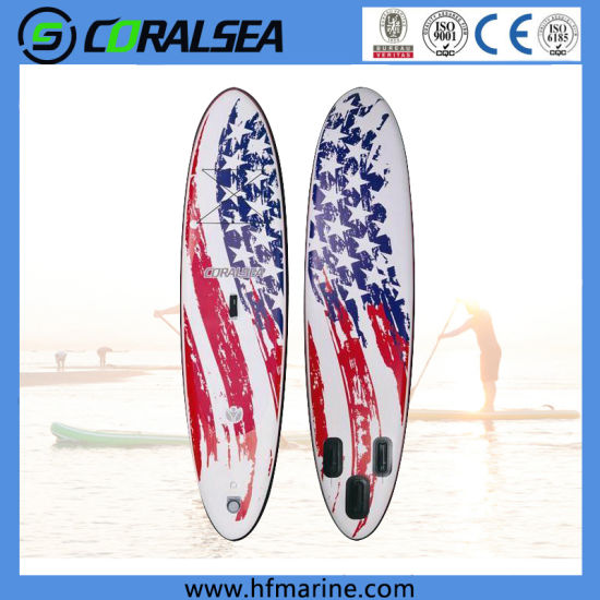 """Inflatable Sup with UV Digital Printing and 15cm Thickness Drop Stitch Materials Size 10'6*32""""*6"""""""