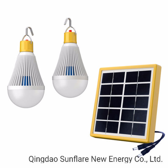 Emergency 2*2W Solar LED Bulbs/Light/Lantern/Lamp Charging Mobile Phone