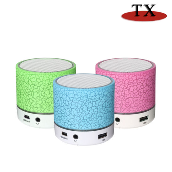 Portable Wireless Rechargeable TF Card Bluetooth Mini Speaker with LED pictures & photos