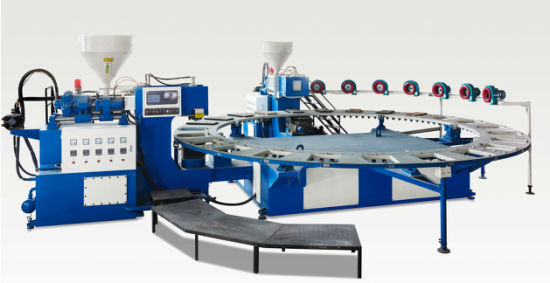 Automatic Rotary PVC Air Blowing Molding Injection Shoe Machine