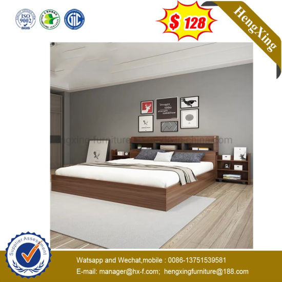 American Style Modern Bedroom Furniture Double Bed for Home (UL-9BE125)
