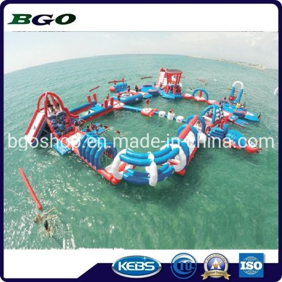 2019high Quality Inflatable Floating Summer Popular Water Park Games Obstacle Course pictures & photos