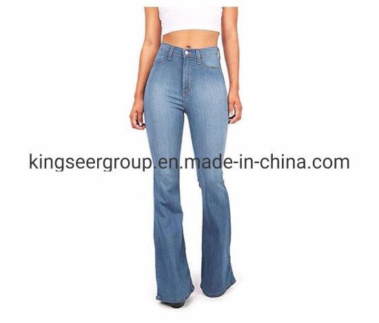 OEM/ODM New Arrival Fashion High Waist Women/Ladies Flared Jeans Ks-D012