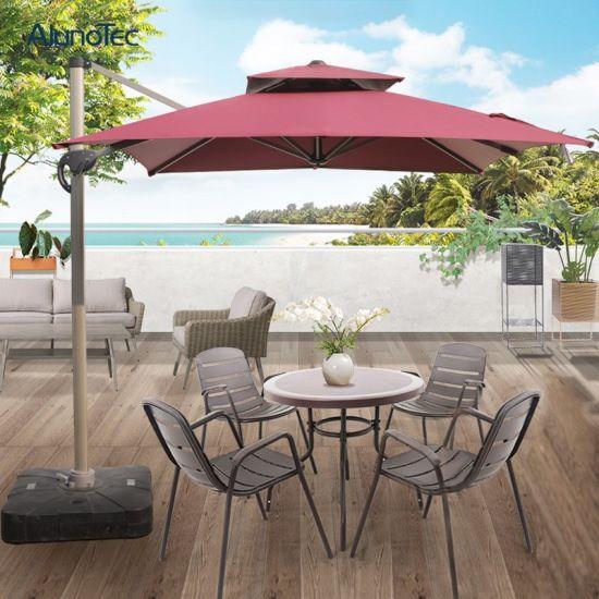 Easy Control Sun Shade Aluminum Folding Parasols Roman Beach Umbrella