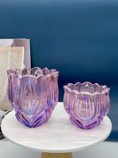 Manufacturer Direct Wholesale Creative Glass Candle Holder, Galss Container, Glass Flower Pot, Glass Ware