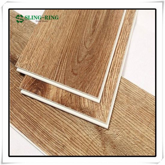 Wooden Grain Waterproof PVC Lvt Spc Click Floor with IXPE Underlay