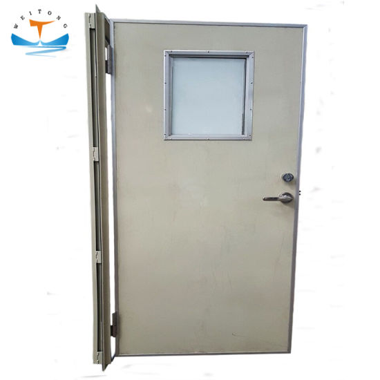 China Single Leaf Fire Proof Aluminum Hollow Marine B15 Cabin Door