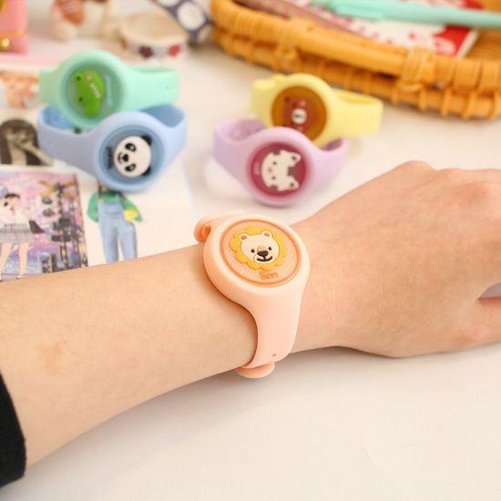 Children Silicone Cartoon Lightweight Wearable Mosquito Repellent Watch