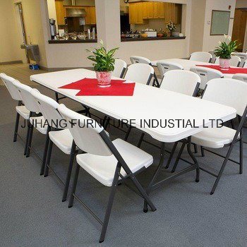 6FT 6 Seats Cheap Popular Plastic Folding Table pictures & photos